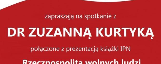 Myślenice – spotkanie z dr Zuzanną Kurtyką, 16 kwietnia,