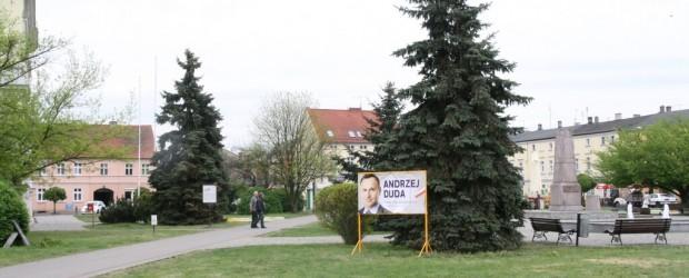 Kampania wyborcza Andrzeja Dudu w Nowym Tomyślu i Bukowcu
