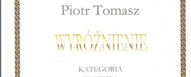 Krajenka – wyróżnienia w Konkursie o Nagrodę Powiatu Złotowskiego dla Piotra Tomasz