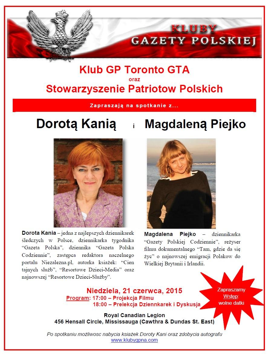 TorontoGTA Piejko Kania 2015