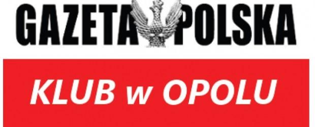 """Stanowisko Klubu """"Gazety Polskiej"""" w Opolu"""