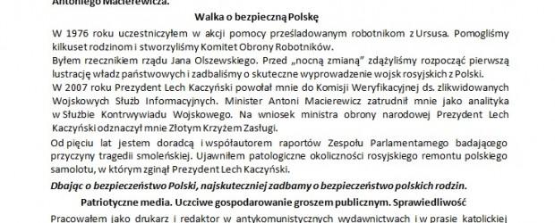 Polonia w wyborach do Sejmu bedzie głosować na Pana Marcina Gugulskiego. Tak ustaliły Kluby Gazety Polskiej w USA i Solidarni2010NY/NJ.