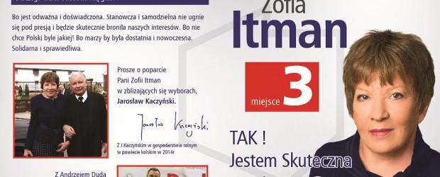 """Zofia Itman – kandydatka do Sejmu z Klubu """"GP"""" Konin"""
