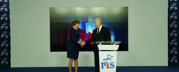 Poparcie Zofii Itman przez prezesa PIS Jarosława Kaczyńskiego (wideo)
