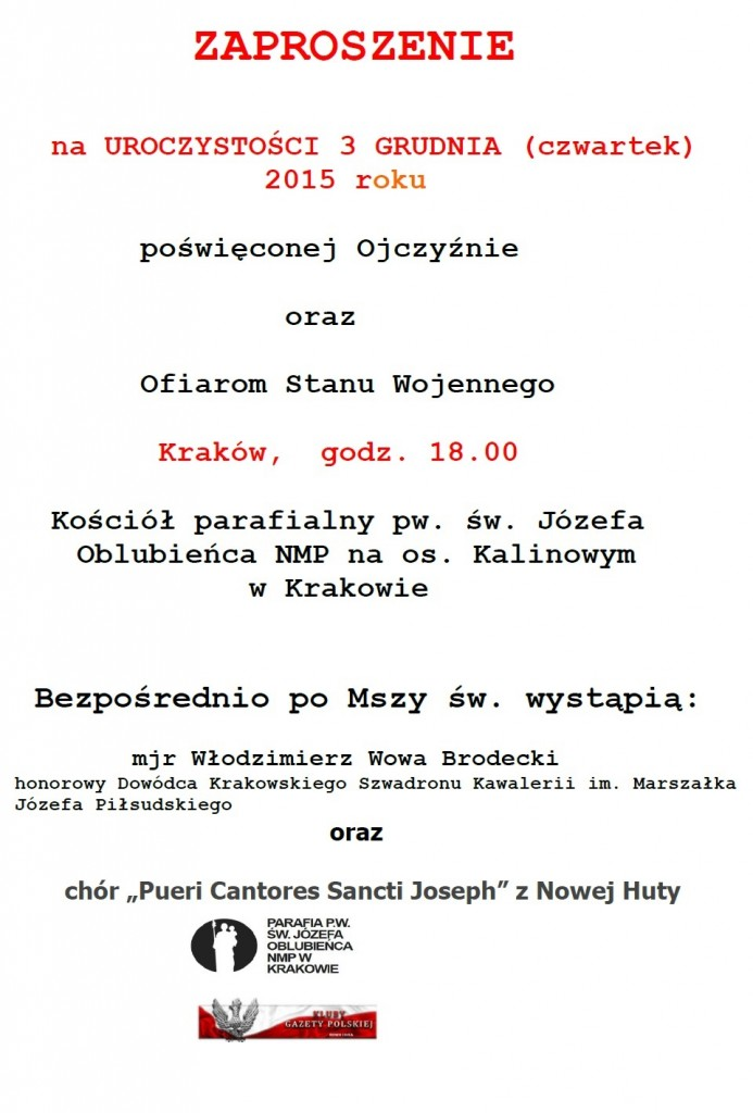 Krakow Nowa Huta - 3 grudnia 2015