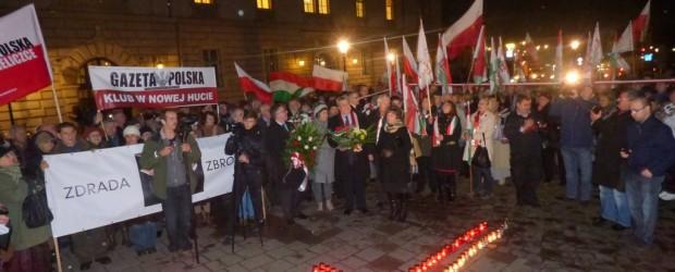 Węgrzy pod Katyńskim Krzyżem (wideo)