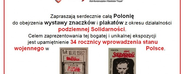 Mississauga – wystawa znaczków i plakatów z okresu działalności  podziemnej Solidarności, 13 grudnia