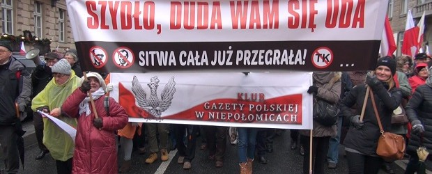 Niepołomice: marsz 13 grudnia w Warszawie