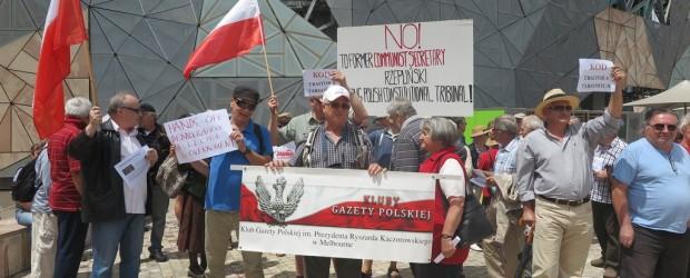 KOD w Australii przestraszył się demonstracji poparcia dla polskiego rządu i prezydenta