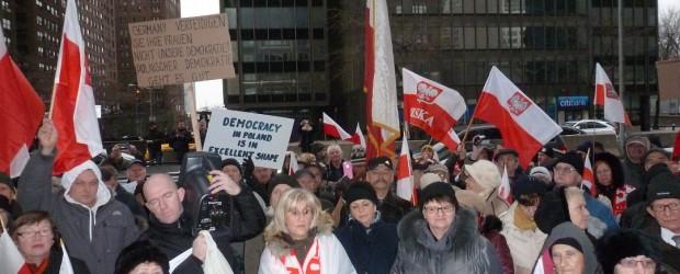Protest w Nowym Jorku (wideo)