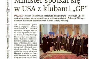"""Minister spotkał się w USA z klubami """"GP"""" (wideo)"""