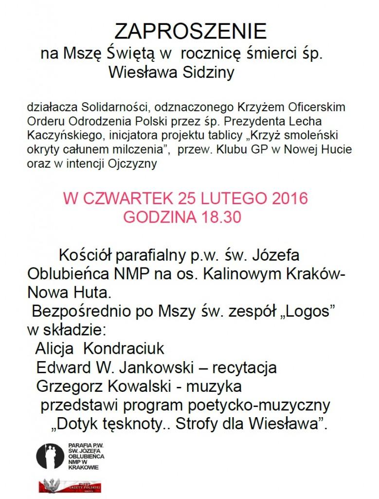 Krakow Nowa Huta - Msza 2016
