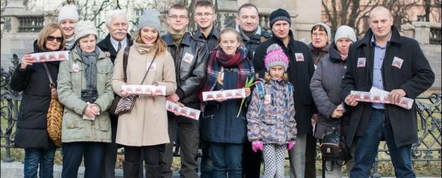 Akcja 'Zakochaj się w Polsce!' w Warszawie (wideo)