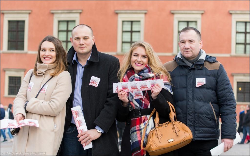 Zdjęcia uczestników w Warszawie. Foto: Radek Betlejewski