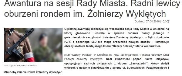 W Gnieźnie nadano nowemu gnieźnieńskiemu rondu imię Żołnierzy Wyklętych
