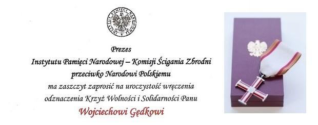 Łowicz – spotkanie z Wojciechem Gędek z okazji nadania odznaczenia  przez Prezydenta R.P. Krzyża Kawalerskiego, 15 lipca
