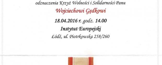 Łowicz: Krzyż Wolności i Solidarności