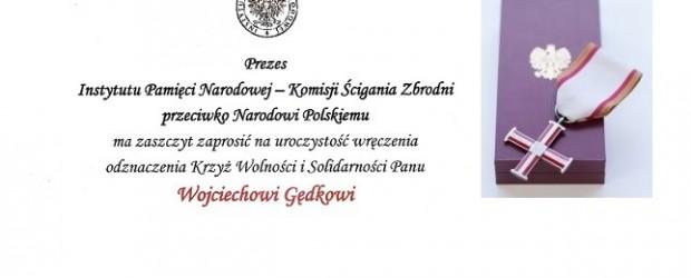 """[Tydzień w Klubach """"GP""""] Krzyż Wolności i Solidarności dla Wojciecha Gędka"""