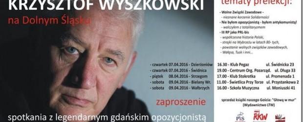 """Spotkania z  Krzysztofem Wyszkowskim pt. """"III RP jako PRL-bis"""" na Dolnym Śląsku"""