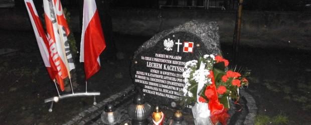 Uczczenie Szóstej Rocznicy Katastrofy Smoleńskiej w Raciborzu
