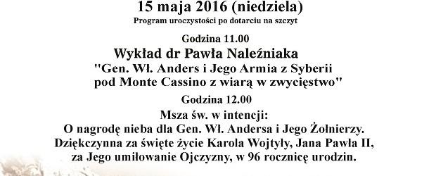 III Ogólnopolski Gwiaździsty Rajd Środowisk Patriotycznych na Groń Jana Pawła II