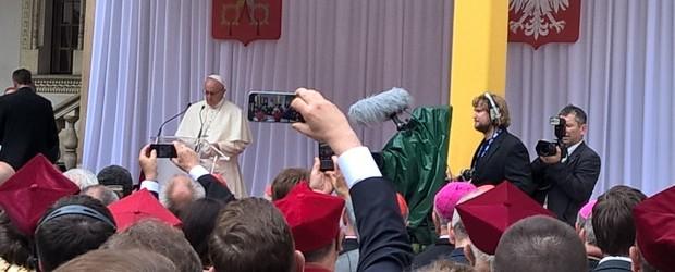 Powitanie Jego Świątobliwości Papieża Franciszka na Wawelu