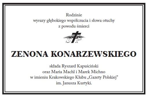 GP kondolencje Konarzewski