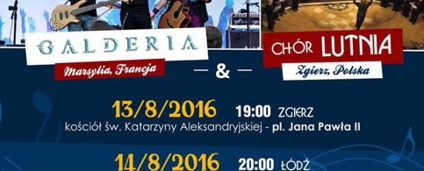 Zgierz: Koncerty GALDERII z chórem Lutnia, 13-15 sierpnia