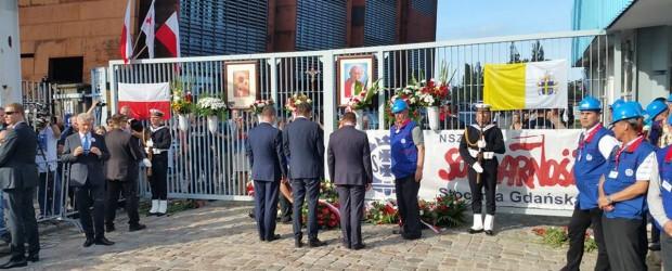 Gdańsk II:  uroczystości 36. rocznicy Porozumień Sierpniowych