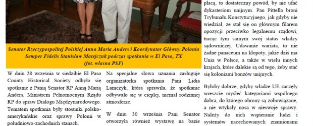 New Mexico: Spotkanie z Senator RP Anną Marią Anders