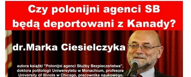 """Montreal: """"Polonijni agenci Służby Bezpieczeństwa"""", 16-20 listopada"""