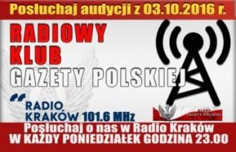 """POSŁUCHAJ AUDYCJI: """"Radiowy Klub Gazety Polskiej"""" – 03.10.2016 r. (audio)"""