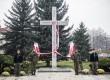 Uroczystości odsłonięcia pomnika Krzyża Katyń Smoleńsk w Trzebnicy