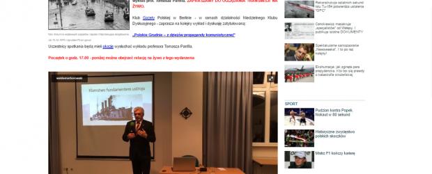 Transmisja na niezalezna.pl ze spotkania z prof. Tomaszem Panfilem w Niedzielnym Klubie Dyskusyjnym / Klubie GP w Berlinie (wideo)