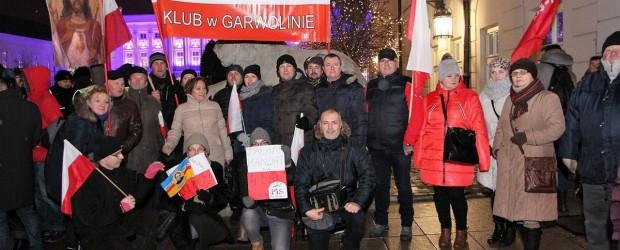 Garwolin: Demonstracja w obronie demokracji w Warszawie