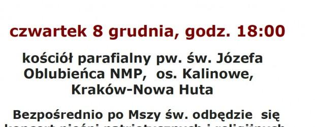 Kraków – Msza św. w intencji Ojczyzny oraz Ofiar stanu wojennego, 8 grudnia