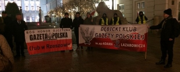 Rzeszów, Dębica: Demonstracja w obronie demokracji w Warszawie