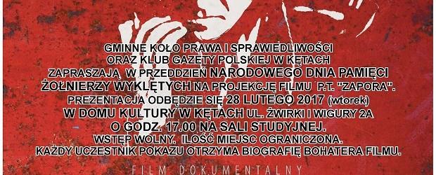 """Kęty – projekcja filmu pt. """"Zapora"""", 28 lutego"""