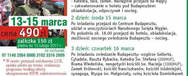 Knurów: Wyjazd na Węgry, zapisy
