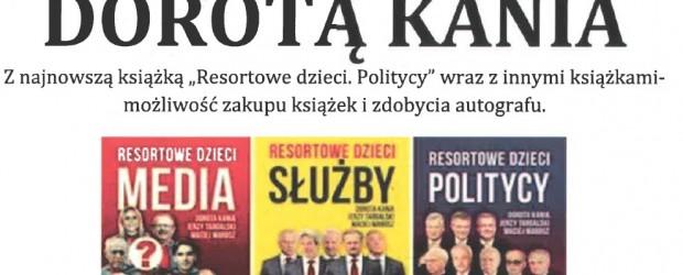 """Mysłowice –  spotkanie z red. Dorotą Kanią, z najnowszą książką """"Resortowe dzieci. Politycy"""", 9 lutego"""