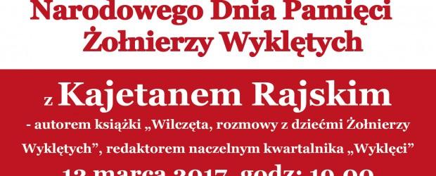 Wadowice: Spotkanie z Kajetanem Rajskim, 12 marca