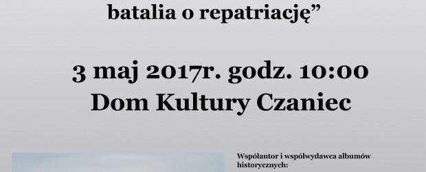 Czaniec – spotkanie z Piotrem Hlebowicz, 3 maja