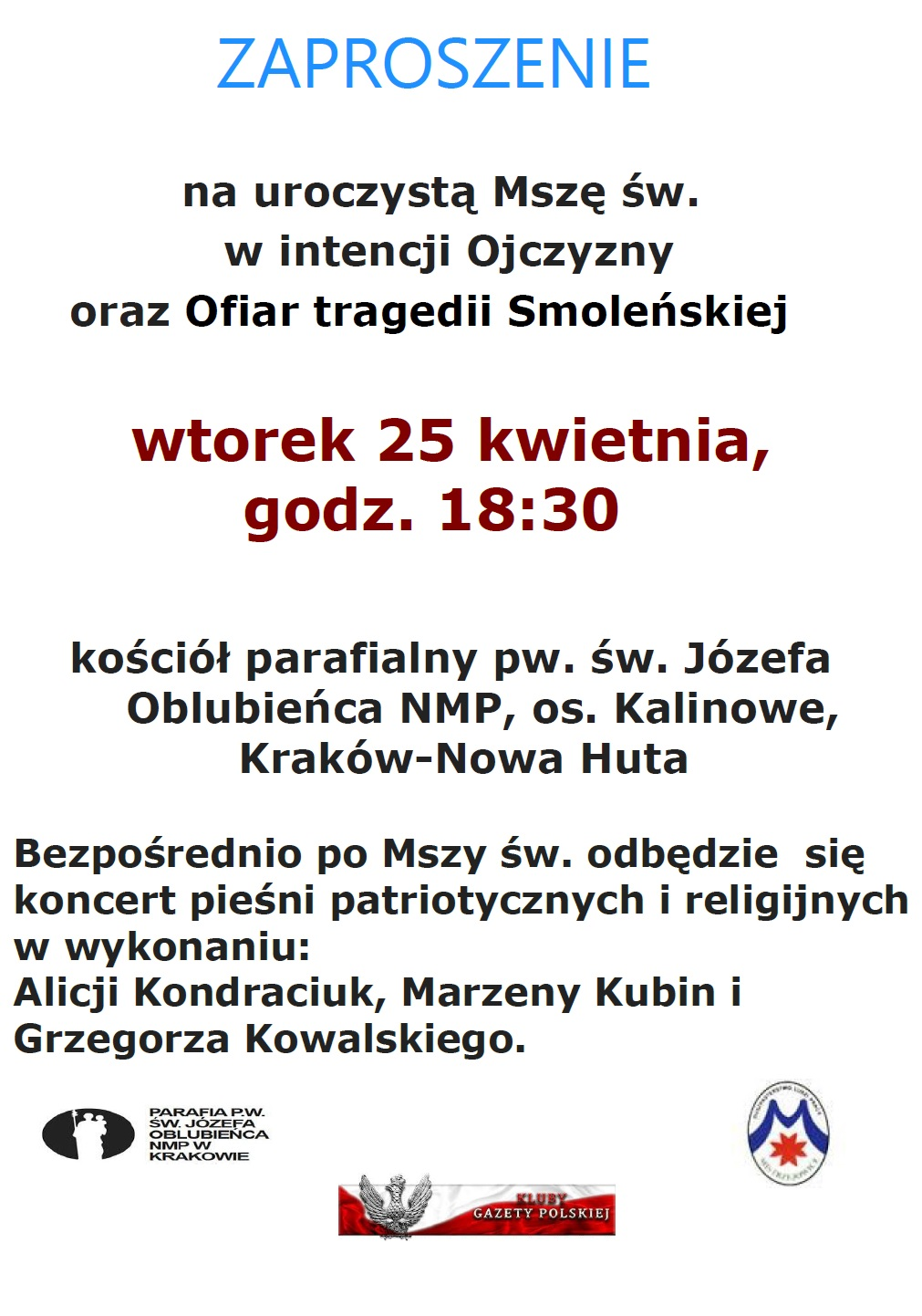 Krakow Nowa Huta 25 kwietnia 2017