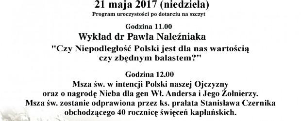 Andrychów II – IV Ogólnopolski Gwiaździsty Rajd Środowisk Patriotycznych na Groń Jana Pawła II (Leskowiec)