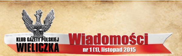 Wieliczka – Gazetka Wiadomości nr 1