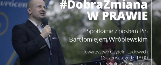 Września – Spotkanie dr Bartłomiejem Wróblewskim posłem Prawa i Sprawiedliwości