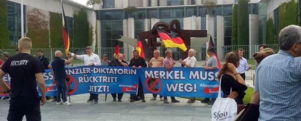 Berlin,28.06.17-demonstracja przed urzędem kanclerskim.