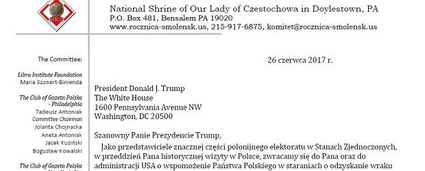 """Kluby """"Gazety Polskiej"""" z Ameryki piszą do Donalda Trumpa"""