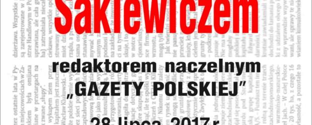 """Gdynia- spotkanie z red. nacz. """"Gazety Polskiej"""" Tomaszem Sakiewiczem, 28 lipca,"""