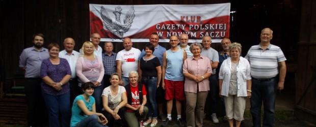 """Klubowicze """"GP"""" z Nowego Sącza zorganizowali wakacyjnego grilla."""
